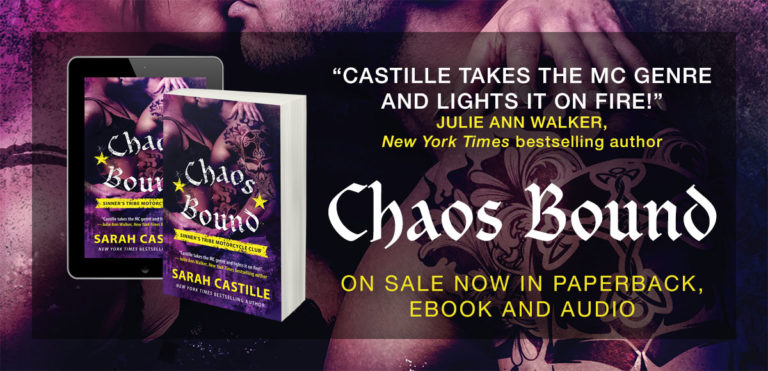 Chaos Bound (Sinner's Tribe Motorcycle Club #4) by Sarah